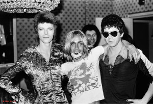 Da sx: David Bowie, Iggy Pop, Lou Reed