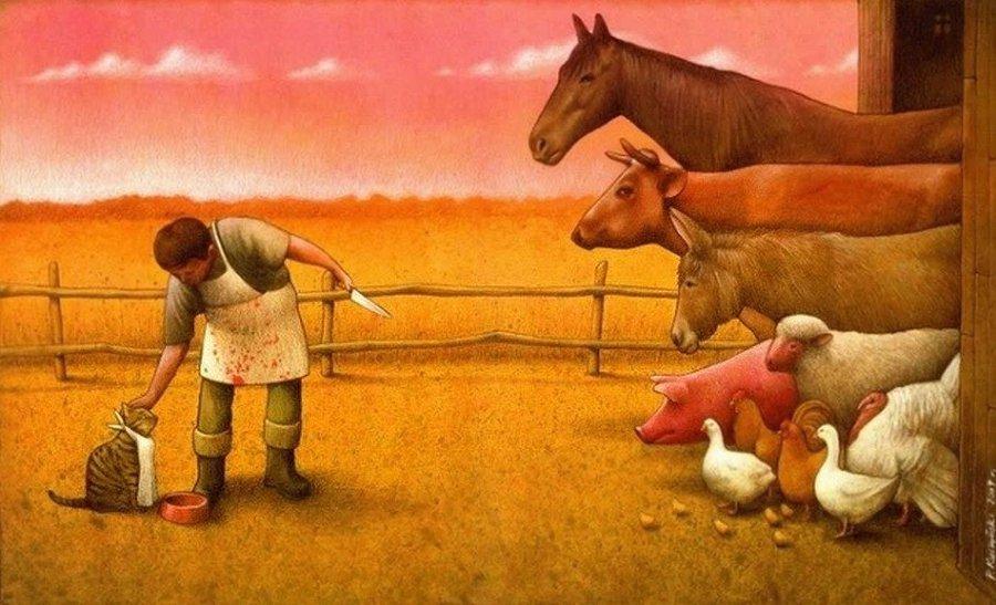 Arte: 16 contraddizioni del genere umano nelle illustrazioni di Pawel Kuczynski