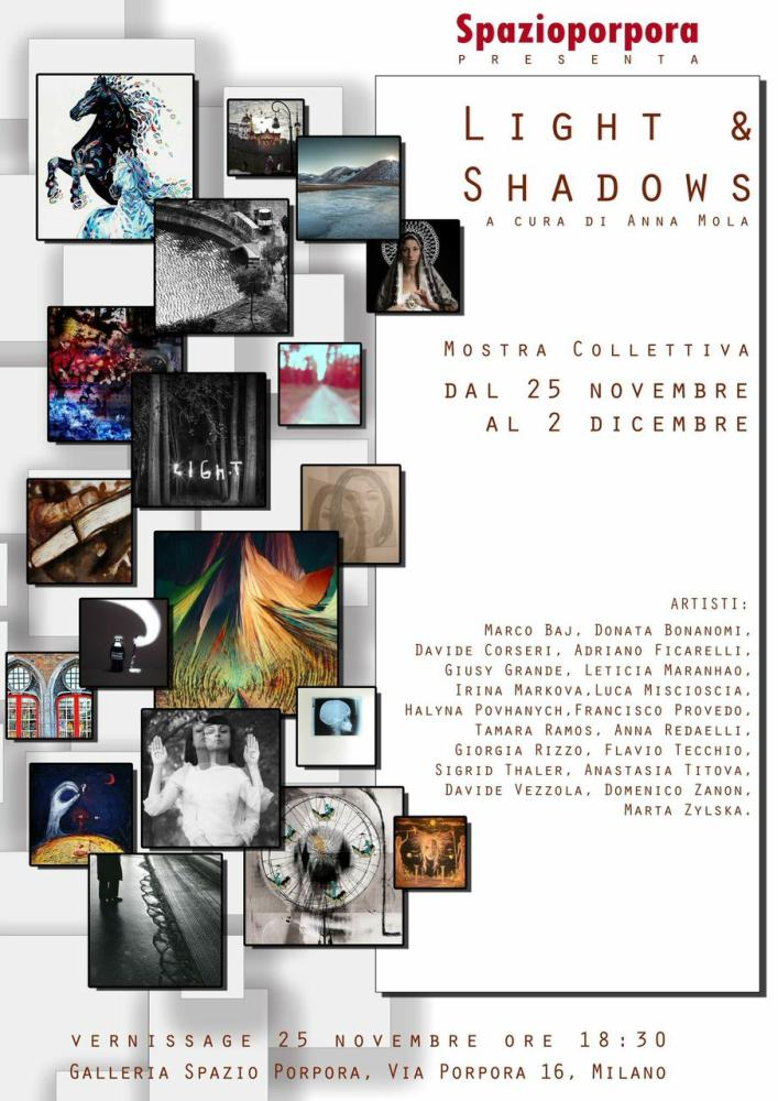 "Milano: Mostra collettiva ""Light and shadows"""