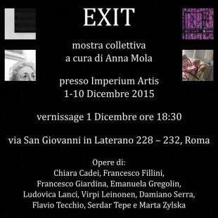 EXIT: mostra collettiva a Roma, 1-10 dicembre 2015