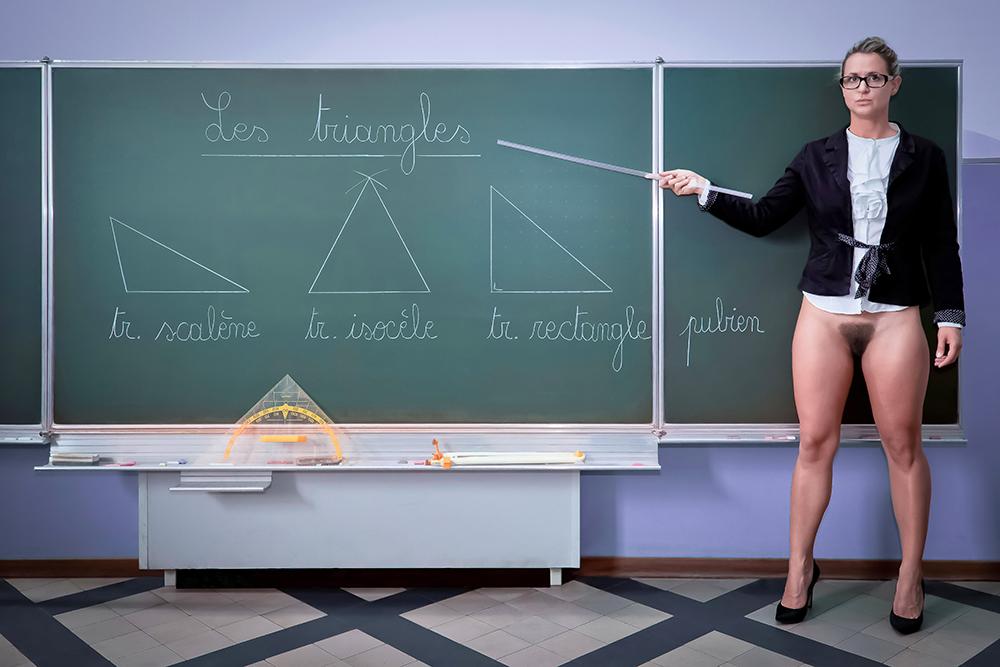 """The Geometry Lesson"" © Irving S. T. Garp"