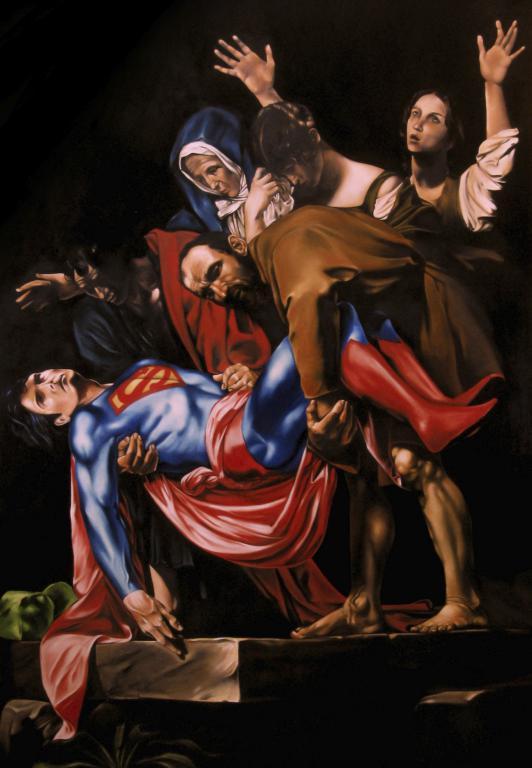 """""""La morte del superuomo"""" © Mirco Campioni (olio su tela, 2013)"""
