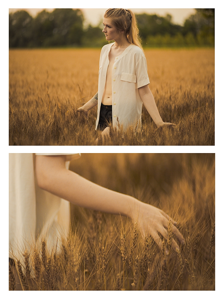 """Wheat field at sunset"" © Giulia Catania - model: Alise - MUHA: Erika Truffelli"