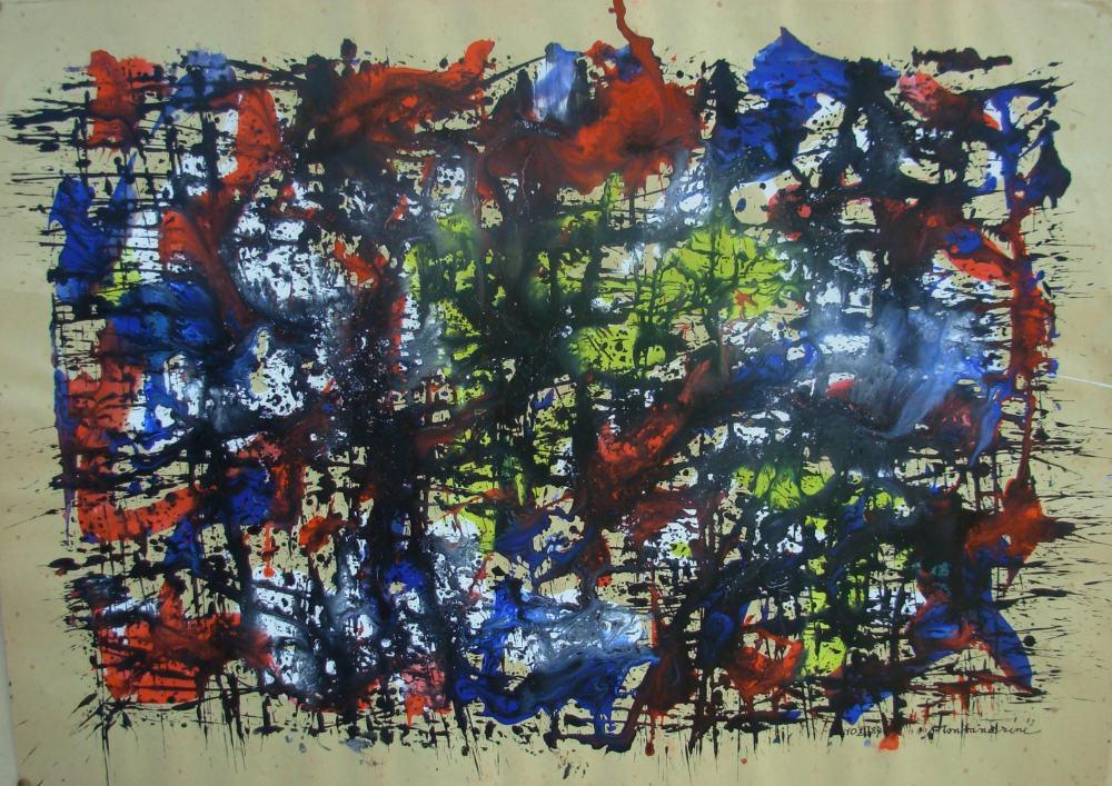 Luigi Montanarini, Composizione - 1980 - Tempera su carta