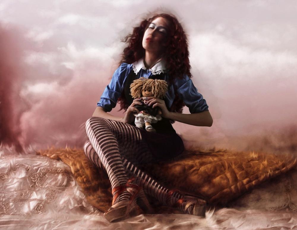 Digital self-portraits by Fabiola Viviano